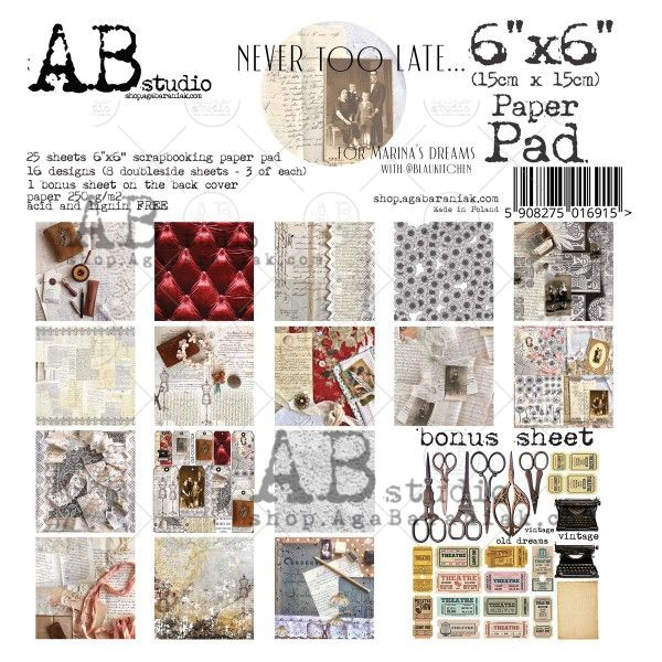 Ab Studio paper-pad-6-x-6-25-sheets-never-too-late